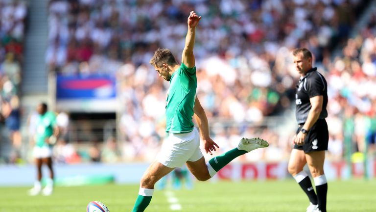 Ross Byrne's only Test start came against England at Twickenham in August 2019