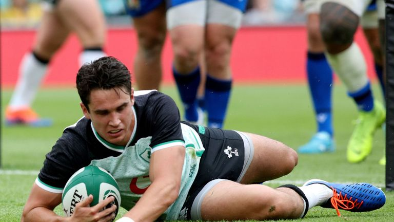 Joey Carbery could feature against Scotland after taking a full part in training on Monday