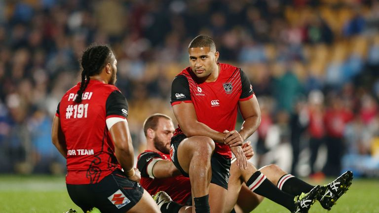 New Hull FC prop Tevita Satae in action for New Zealand Warriors