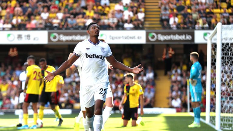 Sebastien Haller was eye-catching against Watford