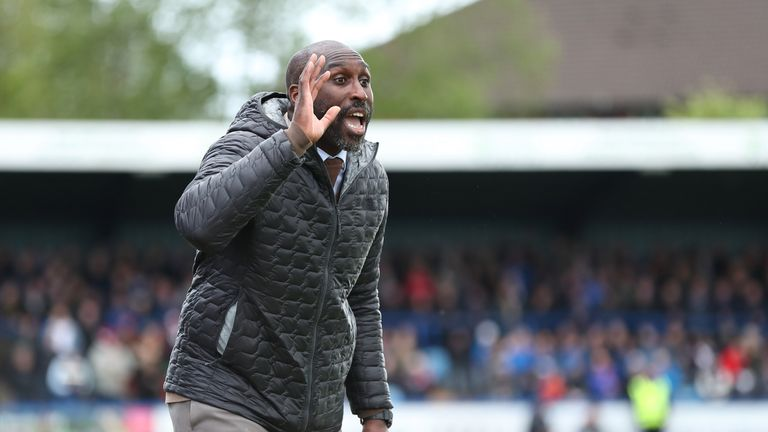 Sol Campbell has parted ways with Macclesfield