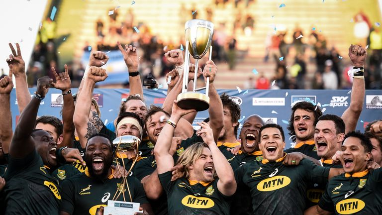 The Springboks won last year's Rugby Championship