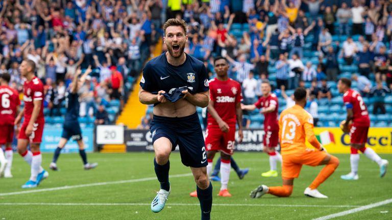 Kilmarnock's Stephen O'Donnell celebrates his equaliser against Rangers last weekend