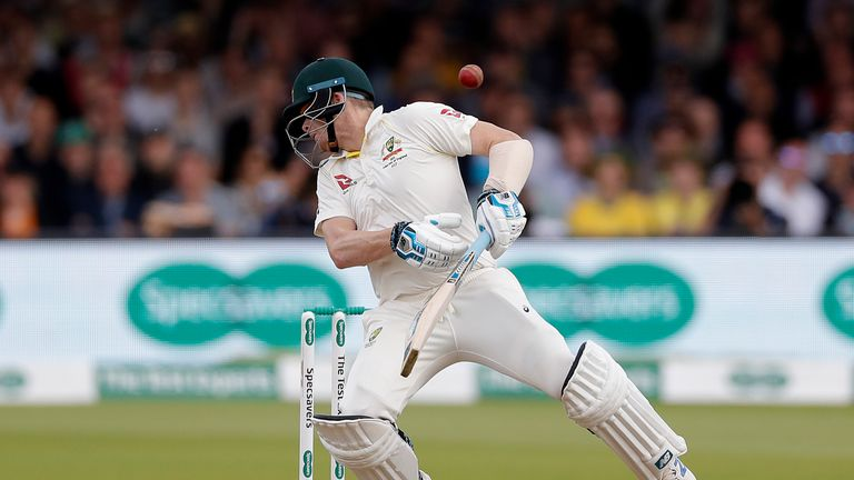Steve Smith was struck on the neck by a delivery from Jofra Archer at Lord's that ruled him out of the third Test