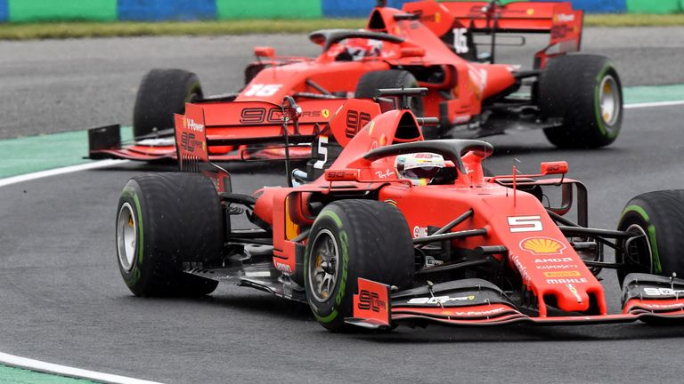 Ferrari proved to be a distant threat, left to fight over fourth place