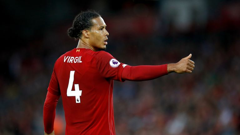 Liverpool defender Virgil van Dijk was runner-up behind Messi