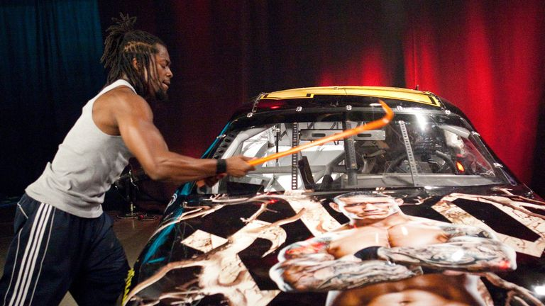 Kofi Kingston destroyed Randy Orton's custom NASCAR in a heated feud in 2009
