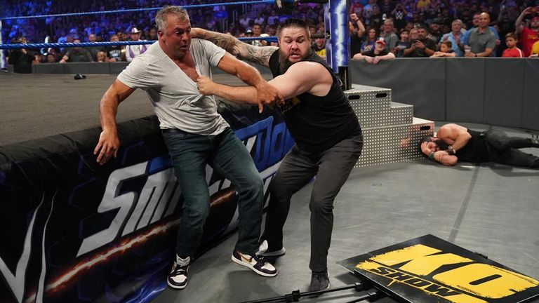 Kevin Owens and Shane McMahon on SmackDown