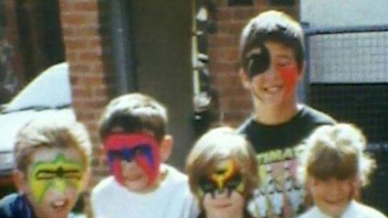 Dan Grimsley and his friends sported Legion of Doom and Ultimate Warrior face paint for the big event