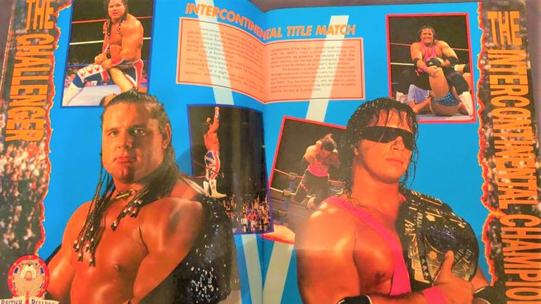 Davey Boy Smith memorably took on Bret Hart in the main event of SummerSlam 1992 - and featured heavily in the programme!