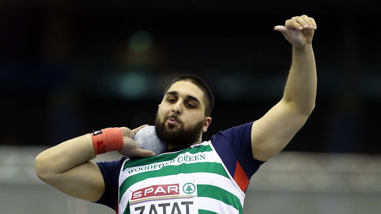 Youcef Zatat, a shot putter, was included in Great Britain's men's 4x400m relay team by mistake