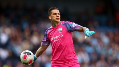 fifa live scores - Ederson: Manchester City goalkeeper goes off at half-time with suspected minor injury