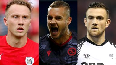 Cauley Woodrow, George Puscas and Jack Marriott have been nominated for the August Sky Bet Championship Goal of the Month award