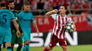 Daniel Podence celebrates scoring against Tottenham