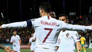 Cristiano Ronaldo scored four goals for Portugal against Lithuania