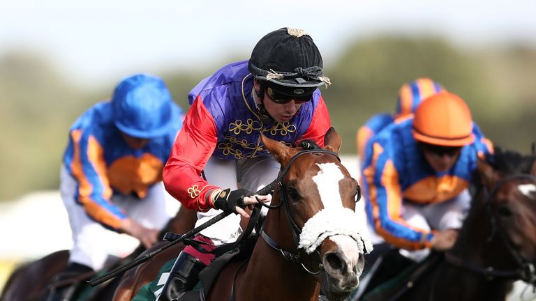 King's Lynn ridden by Oisin Murphy wins the Weatherbys Racing Bank 300,000 2-Y-O Stakes