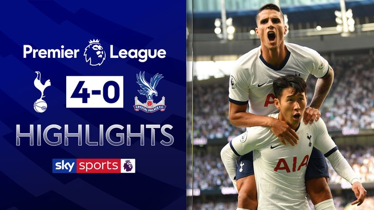 FREE TO WATCH: Highlights from Tottenham's 4-0 win over Crystal Palace.