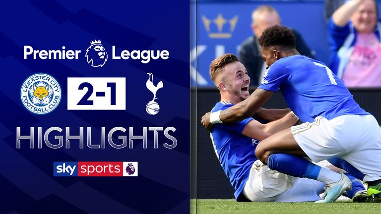 FREE TO WATCH: Highlights from Leicester's 2-1 win over Tottenham in the Premier League.