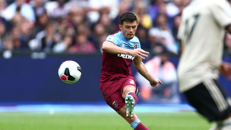 Aaron Cresswell scored in West Ham's last victory against Manchester United in September