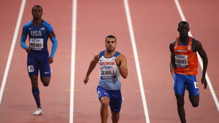 Adam Gemili finished fourth in the 200m Final in Doha