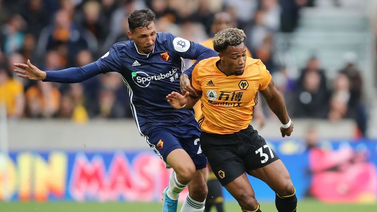 Adama Traore impressed for Wolves against Watford
