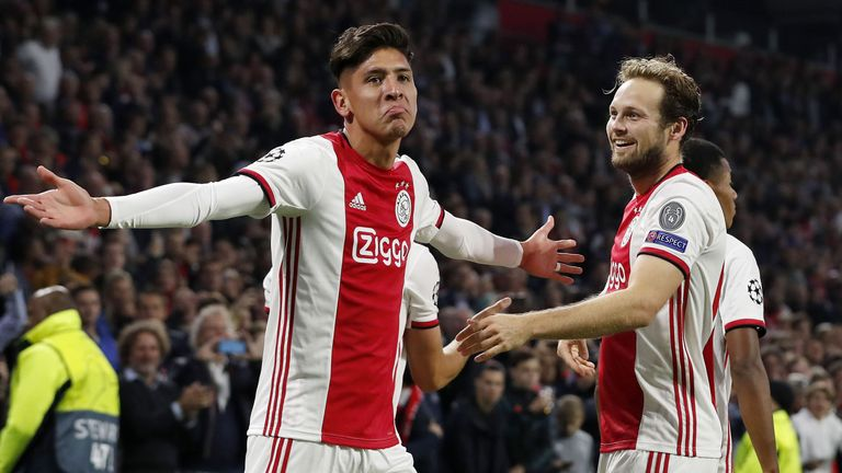Edson Alvarez was on target in Ajax's victory over Lille