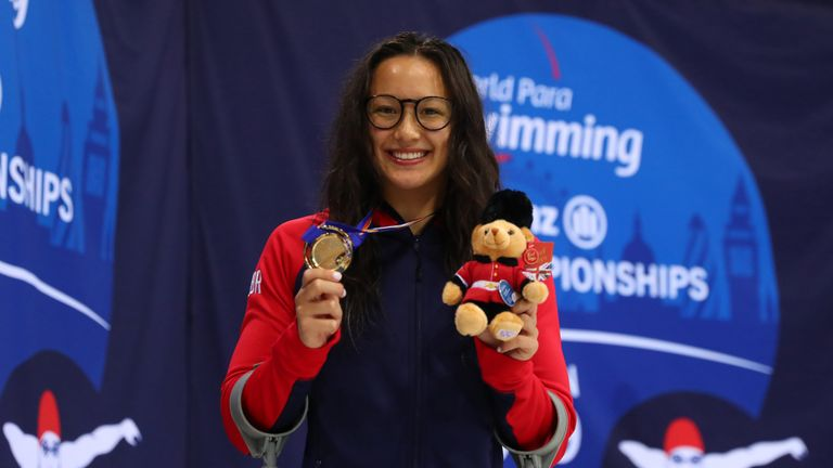 Alice Tai won seven gold medals at the Para Swimming World Championships