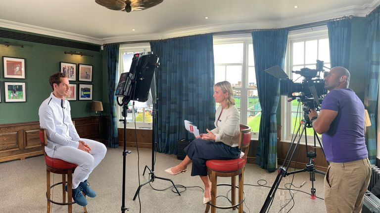 Andy Murray was speaking to Sky News' sports presenter Jacquie Beltrao at Queen's Club