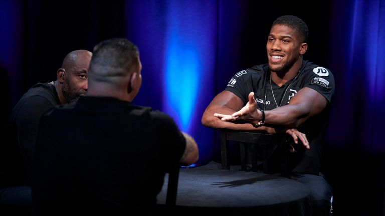 Anthony Joshua traded words with Andy Ruiz Jr in the Sky Sports studio
