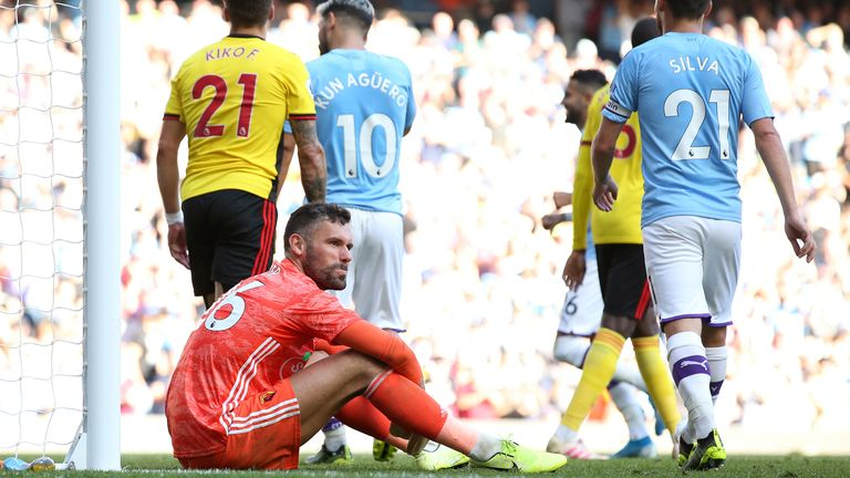 Manchester City will score 10 goals against someone soon, says Watford goalkeeper Ben Foster