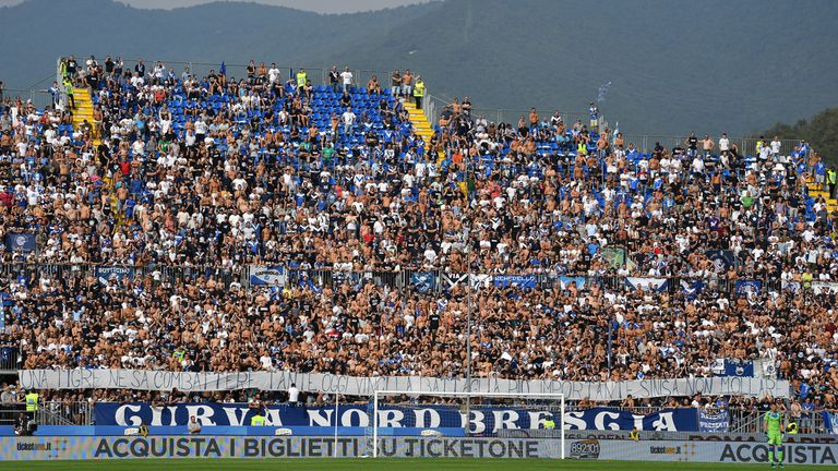 Brescia received a suspended sentence of having to close their Curva Nord stand at the Stadio Mario Rigamonti