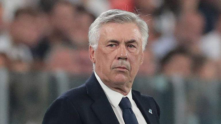 Napoli coach Carlo Ancelotti is also being linked with the job