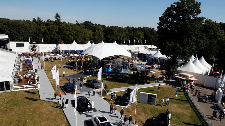 Spectators have to walk through the Championship Village upon arrival at Wentworth