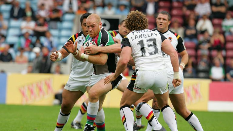 Danny Ward in action for Harlequins RL during his playing days