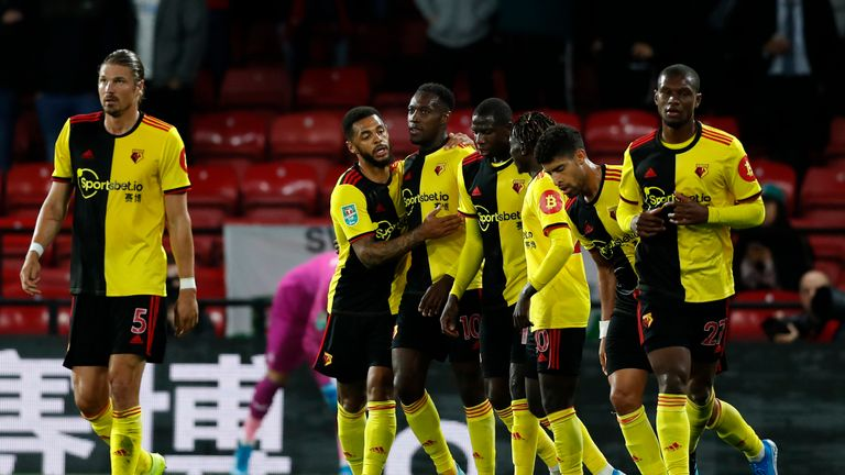 Danny Welbeck opened his Watford account against Swansea at Vicarage Road