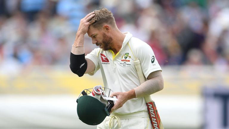 Australia's David Warner has been dismissed by Stuart Broad six times this series
