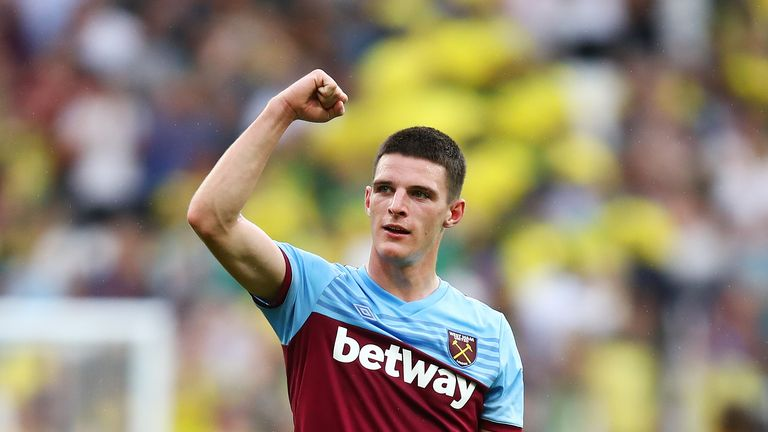 Declan Rice was linked with moves away from the London Stadium during the summer