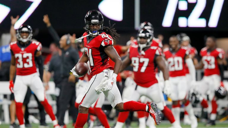 A couple of key defensive plays from Desmond Trufant set the platform for Falcons early lead