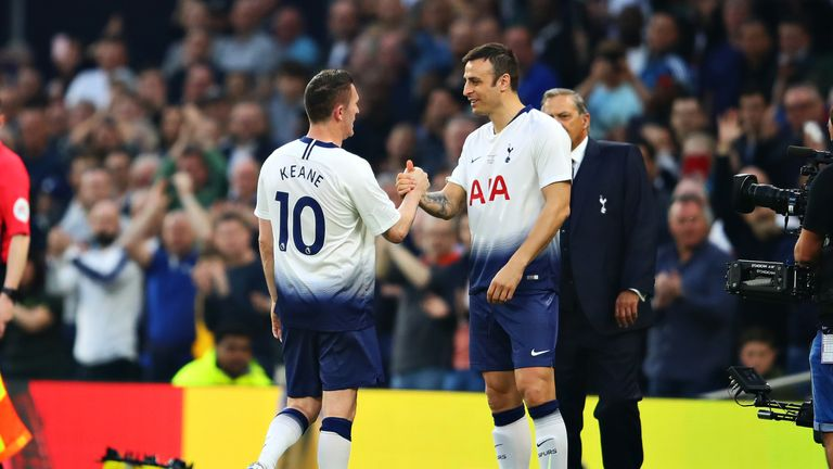 Dimitar Berbatov featured in Tottenham's Legends match in March