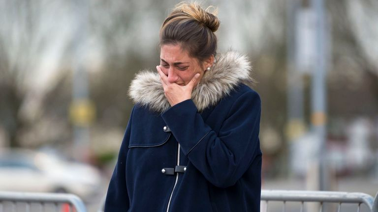 Sala's sister Romina was among the visitors to the Cardiff City Stadium in the wake of the tragic plane crash