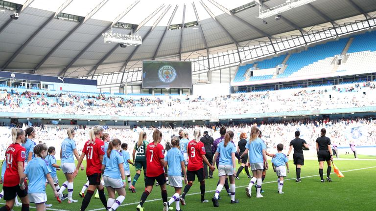 More than 31,000 fans packed into the Etihad Stadium to witness the historic Manchester derby