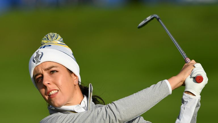 Hall made her Solheim Cup debut in the 2017 contest