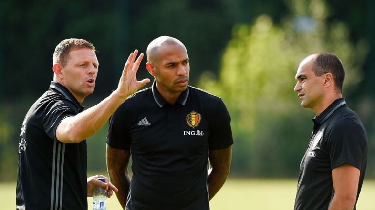 Jones was assistant to Roberto Martinez at Belgium, working alongside Thierry Henry