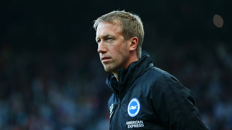 Brighton manager Graham Potter takes his side to Stamford Bridge on Saturday
