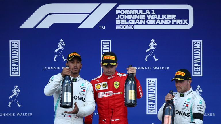 Ferrari were just too fast, says Lewis Hamilton after finishing second at Belgian GP
