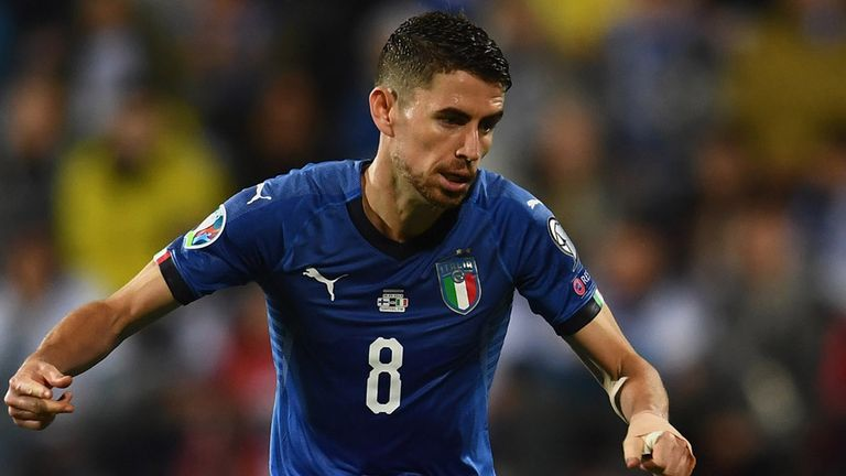 Jorginho's late penalty preserved Italy's perfect start to Euro 2020 qualifying
