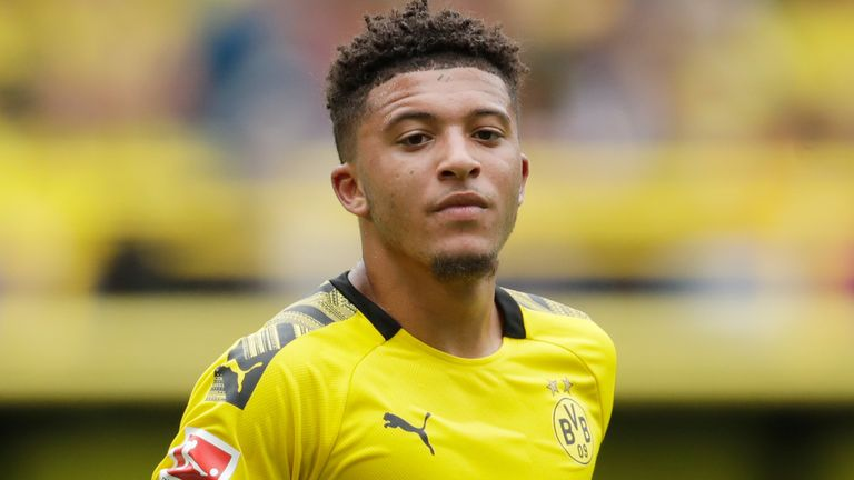 Jadon Sancho moved from the Etihad Stadium to Signal Iduna Park in 2017
