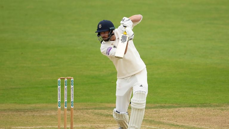 James Vince has scored his first hundred of the County Championship season