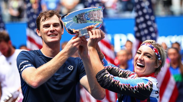 Murray and Bethanie Mattek-Sands successfully defended their mixed doubles title last year