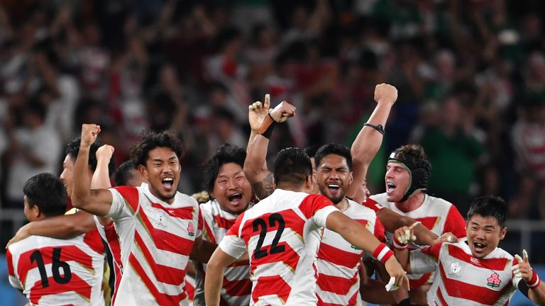 A Japan victory over Samoa could set up a winner-takes-all match against Scotland